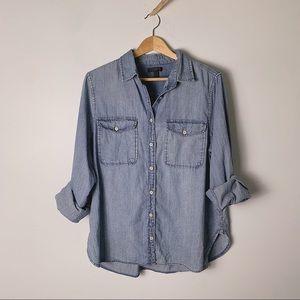 J. CREW Two-Pocket Chambray Button Shirt